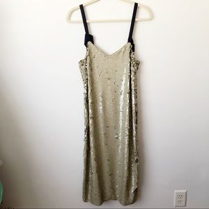 0be597c3 J. Crew Dresses | J Crew Collection Tie Shoulder Sequin Dress | Poshmark